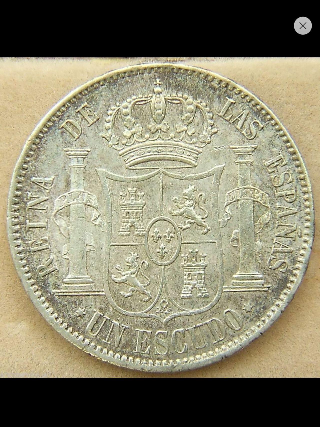 1 ESCUDO DE 1867. ISABEL II. DEDICADO A JAVI Y A ESTRELLA76 Image