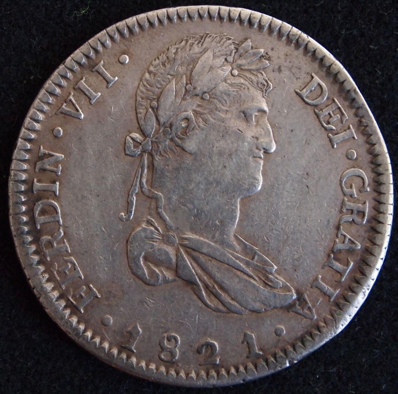 8 reales Fernando VII Guadalajara 1