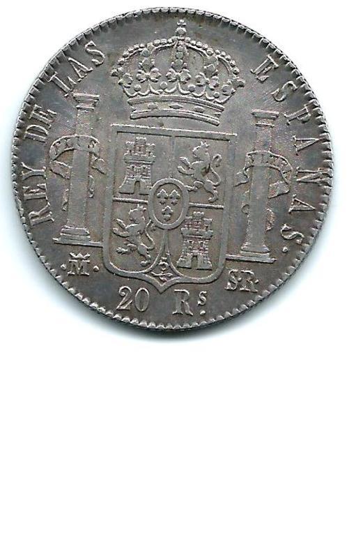 20 reales de Fernando VII de Madrid  año 1822 Image
