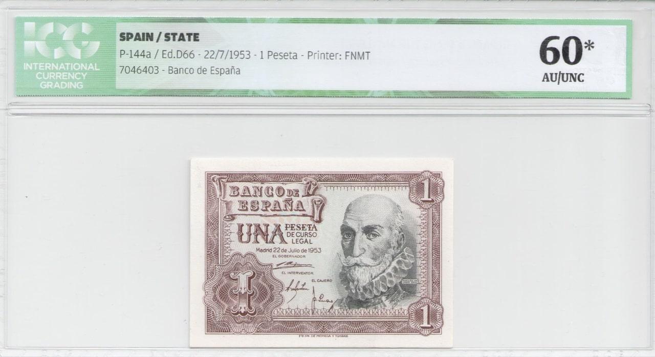 Colección de billetes españoles, sin serie o serie A de Sefcor 53_anverso