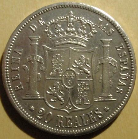 20 reales 1854 Sevilla (Excmo Sr. don Topo Dedit) Isabel_R