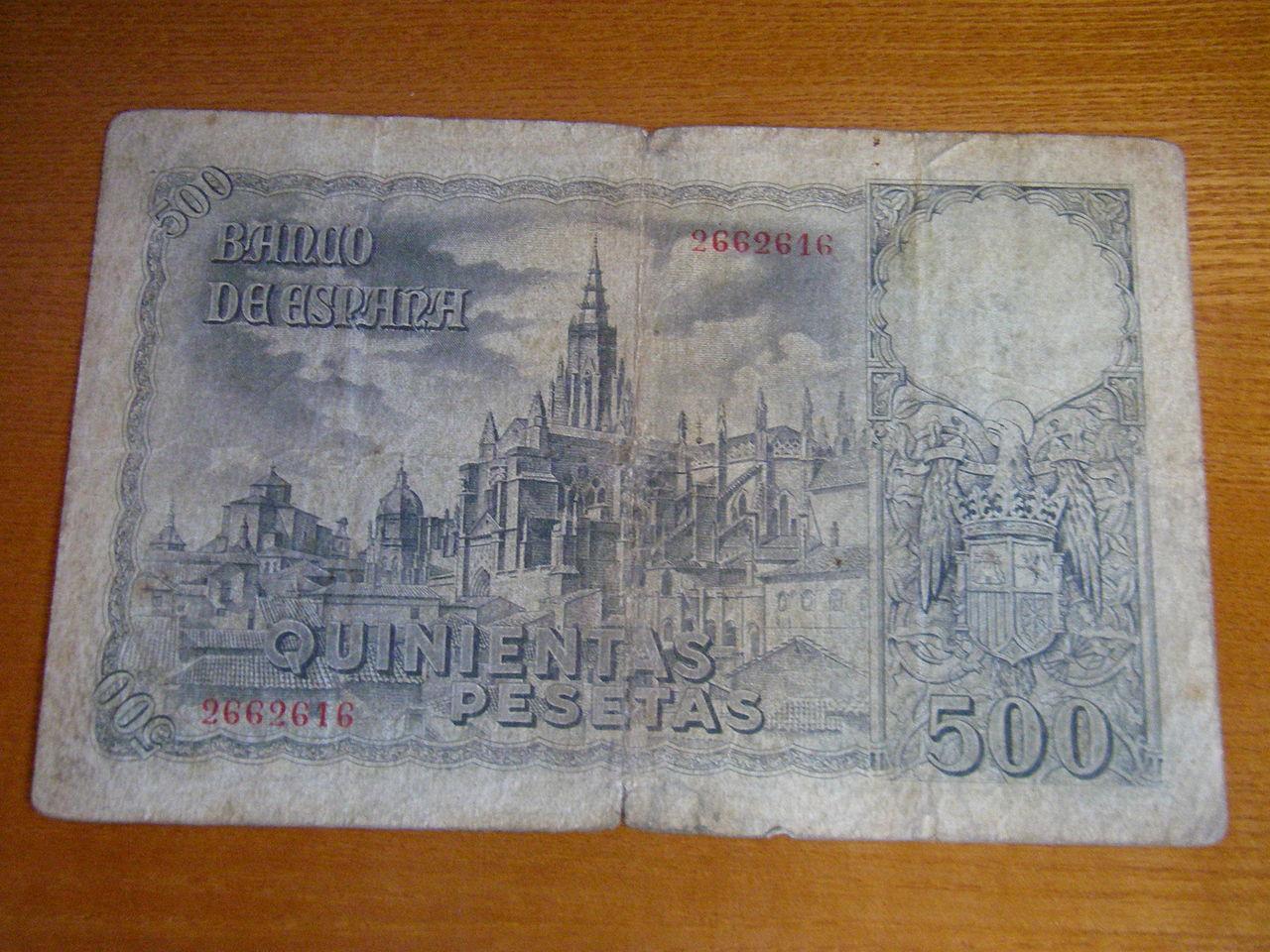 500 Pesetas Octubre 1940 Greco_2