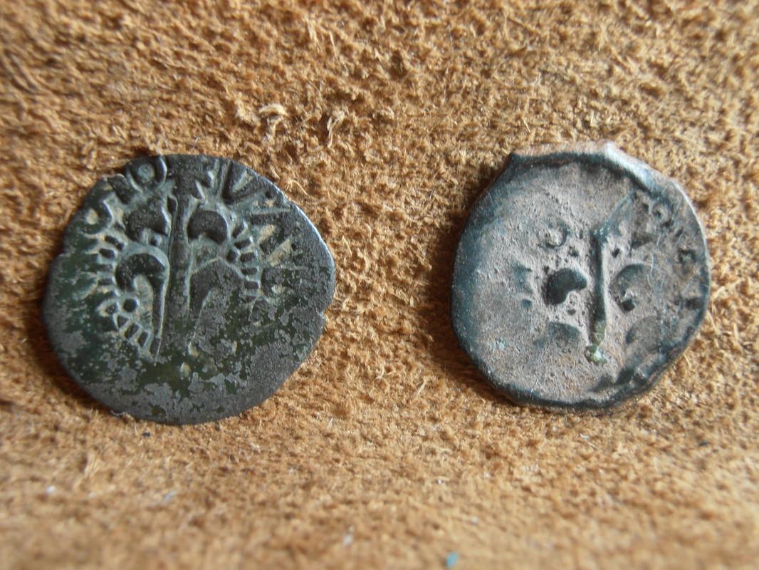 dinero valenciano de CARLOS II falso de época P6020013
