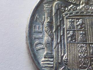 10 céntimos 1941. Estado Español. Variante PLVS. Dedicada a Estrella76. 1941_ac_2