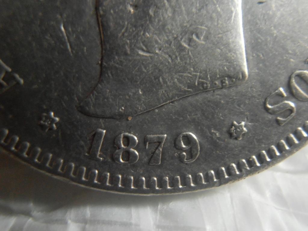 5 Pesetas 1879. Alfonso XII P9090015
