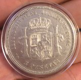 5 pesetas de Alfonso XII 1876 Oreja rayada Oreja_2