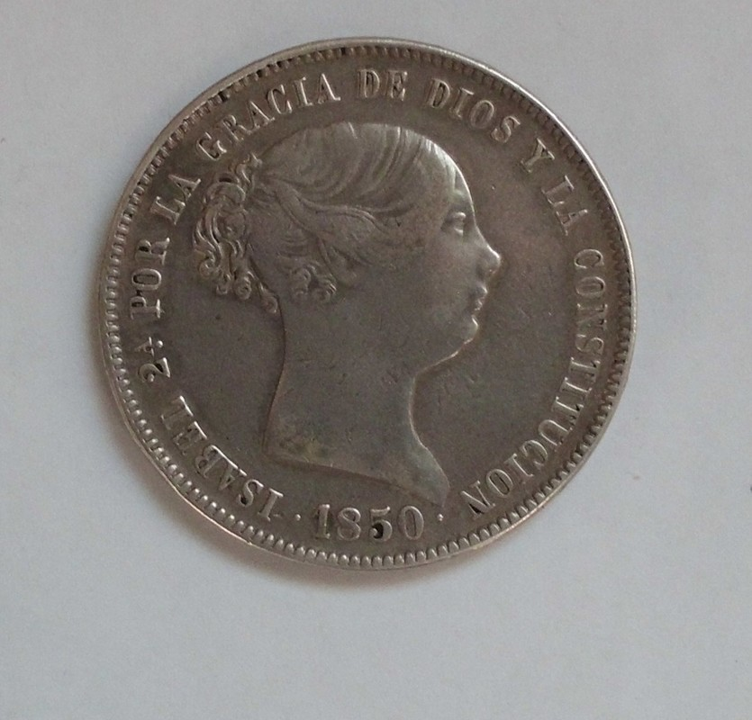 20 reales 1850. Isabel II. Madrid CL CIMG3004