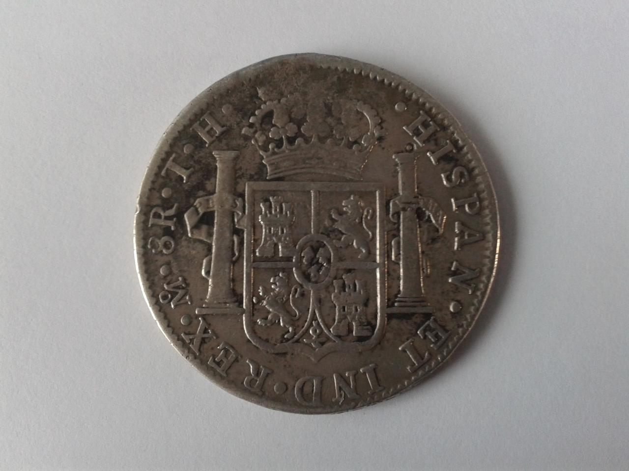 8 reales 1821 - México - Carlos IIII 20141025_154755