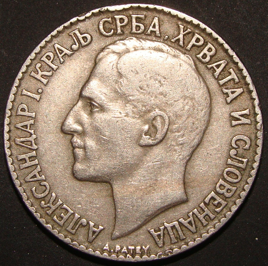 2 Dinares. Yugoslavia (1925) YUG_2_Dinares_1925_anv