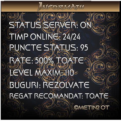 Metin2OT Privat Romanesc Deschis 1.05.2014 Info