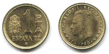 La progesion de la peseta y su decadencia. 1peseta1980