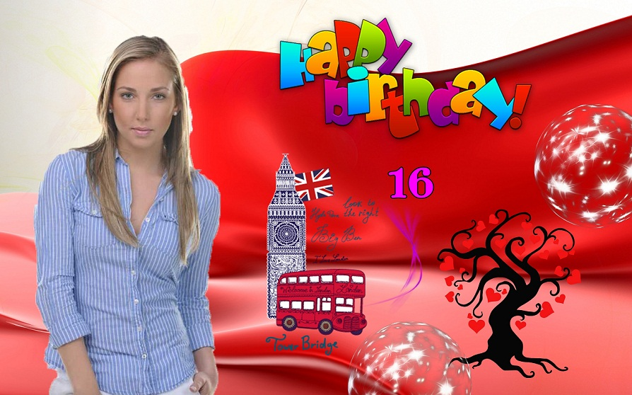 იუზერების დაბადების დღე #2 Red_Background_Wallpaper_Free_Download