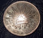 8 reales de México 1895 AM CIUDAD DE MEXICO Image