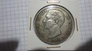 5 Pesetas 1876. Alfonso XII. DE M IMG_3919