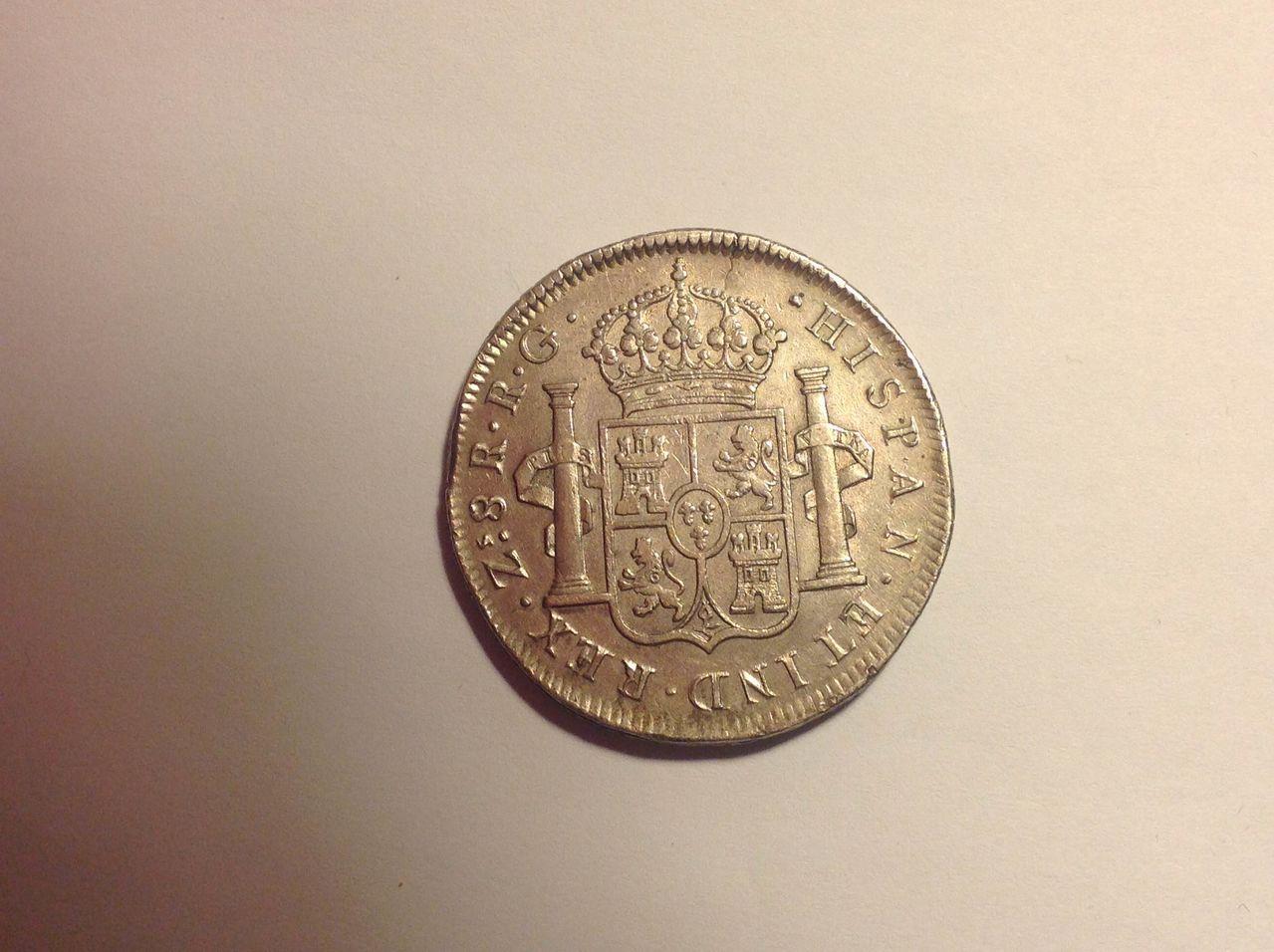 8 reales, Zacatecas, 1820 - RG - FERNANDO VII  IMG_0187