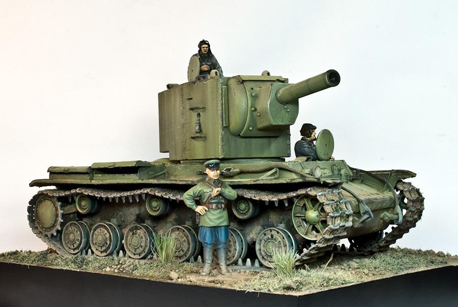 КВ-2 выпуска мая - июня 1941 года. 1/35 ГОТОВО LWTkd