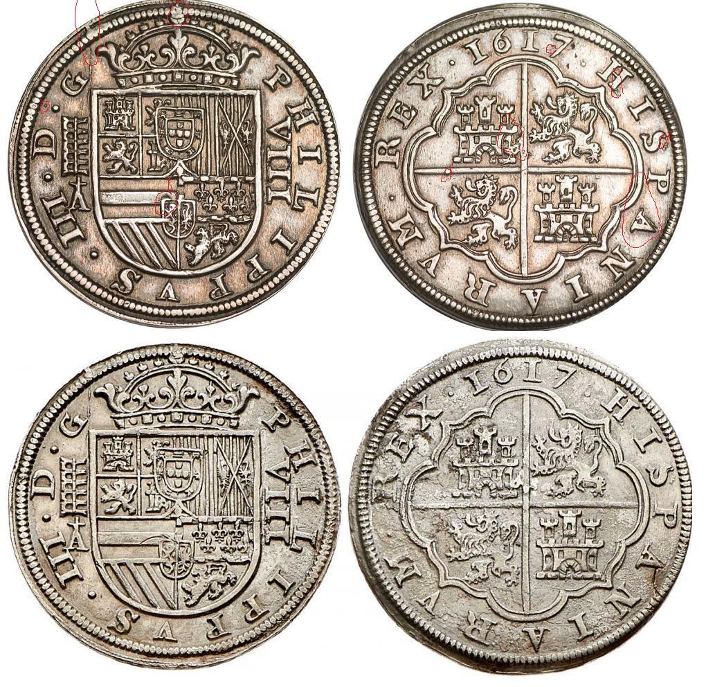 8 reales de 1617, Felipe III, Segovia  Ghf