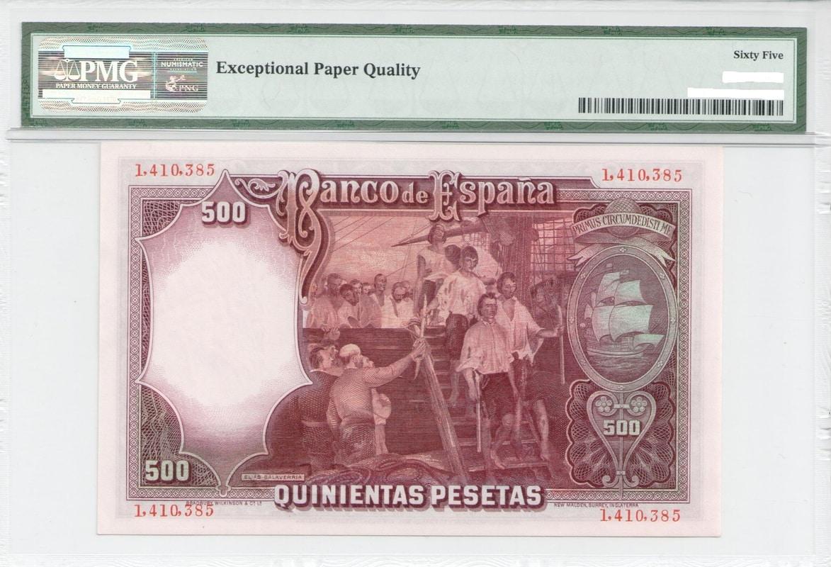 Colección de billetes españoles, sin serie o serie A de Sefcor - Página 3 500_del_31_reverso