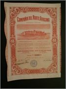 Acción 500 ptas Compañía del Norte Africano 1908 Image
