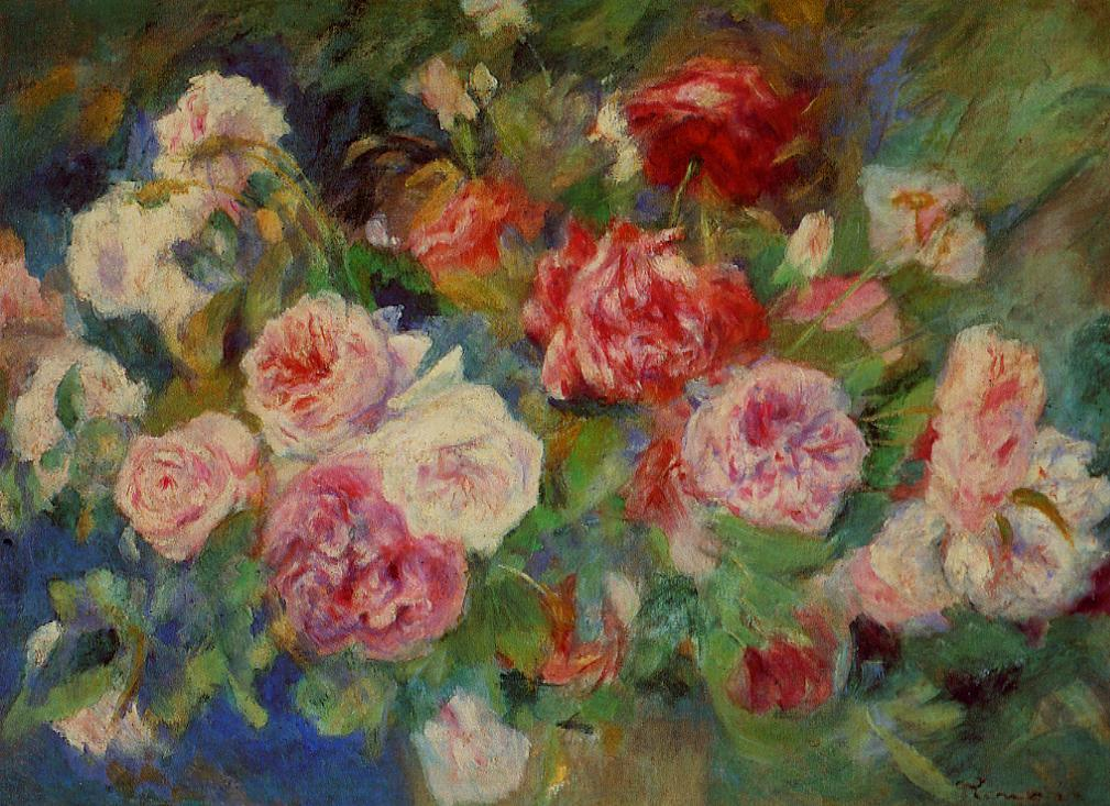 Slike poznatih umjetnika koje su vama lijepe Auguste_Renoir_Roses