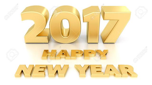 Vánoce a Nový Rok 33021339_Happy_New_Year_2017_Isolated_3_D_design
