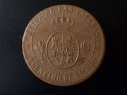 1 Céntimo de Escudo 1867. Isabel II. Segovia. Sin OM DSCN1013