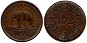 1 Rix Dollar, de Jorge IV, Ceilán Británico, 1821 Ceilan_-_1_192_Rixdollar_1802