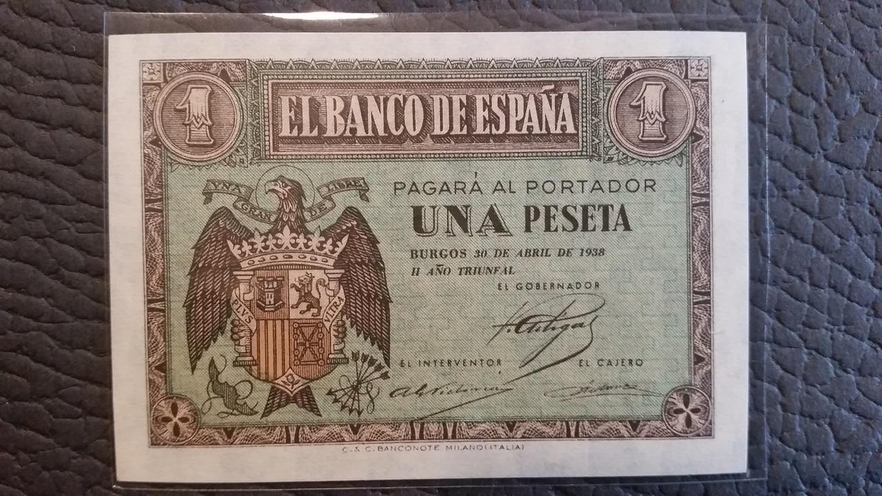 Colección de billetes españoles, sin serie o serie A de Sefcor pendientes de graduar 20161217_115142