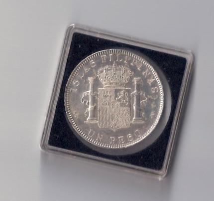 1 peso 1897. Alfonso XIII. Filipinas. MBC+ SG V Image