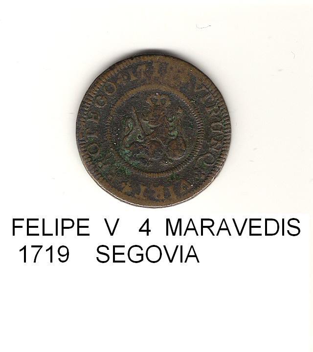 4 maravedís de Felipe V año 1719 Image