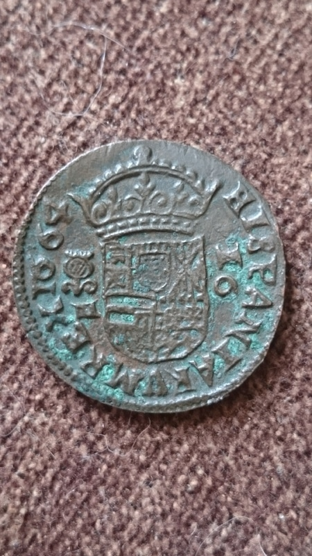 16 maravedís Felipe IV 1664 ceca Granada.  DSC_0245