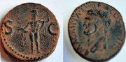 As de Agripa. S C. Neptuno en pie a izq.  Ceca Roma. As_retocado_agripa