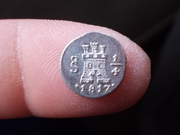 1817 santiago - Cuartillo de Real 1.817  Santiago ¿ Fernando VII ? DSCN0637