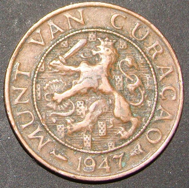 1 Centavo de Florín. Curaçao (1947) AHO_1_Centavo_Flor_n_1947_anv