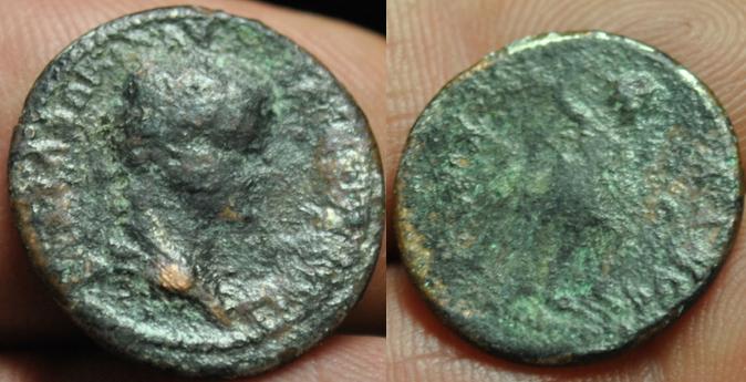 Semis de Tiberio Germánico. Ebusus Image