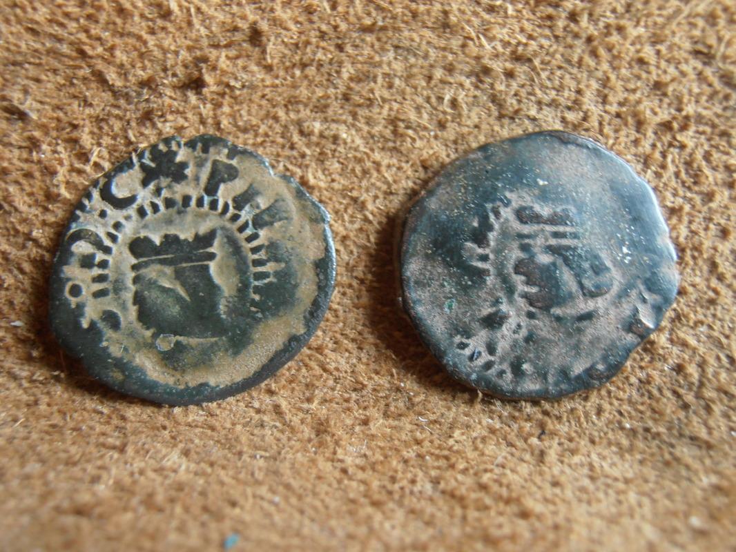 dinero valenciano de CARLOS II falso de época P6020012