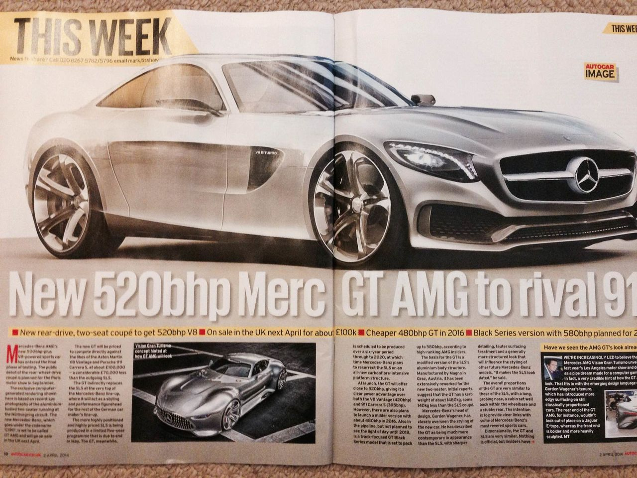 2014 - [Mercedes-AMG] GT [C190] - Page 6 Photo1