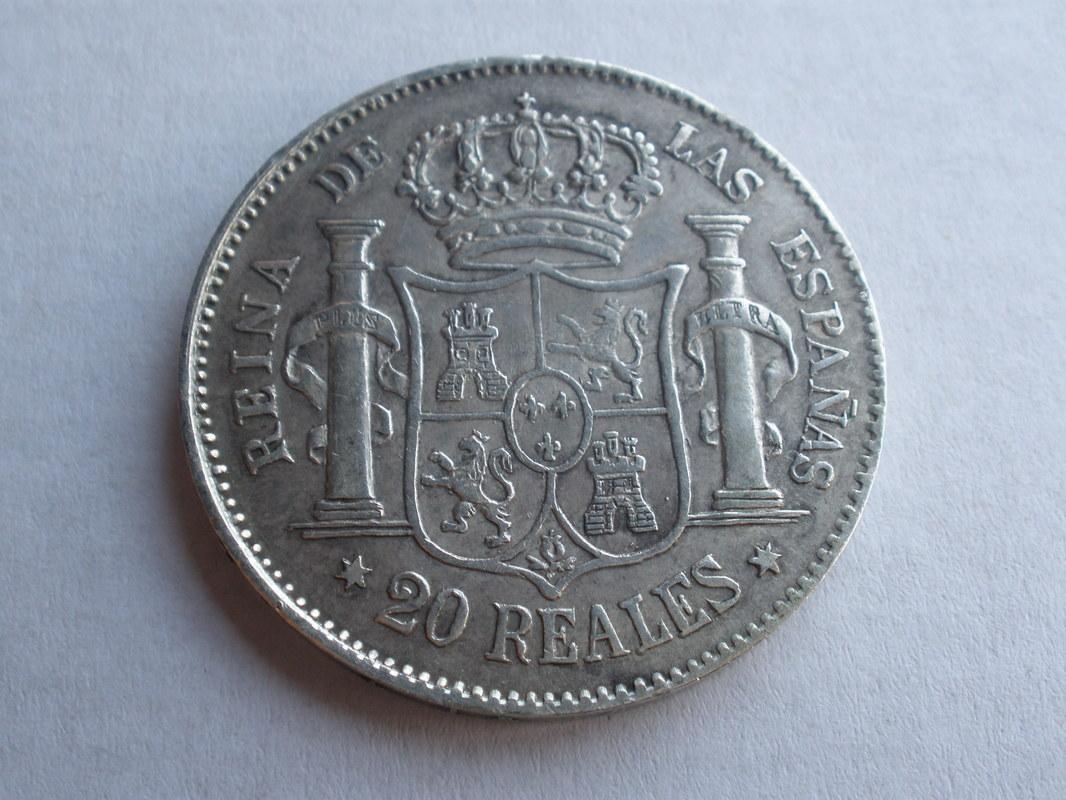 20 reales Isabel II. 1851 Madrid P1010180