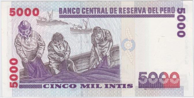 5000 intis de Perú (1988) Peru_5000_intis_1988_R