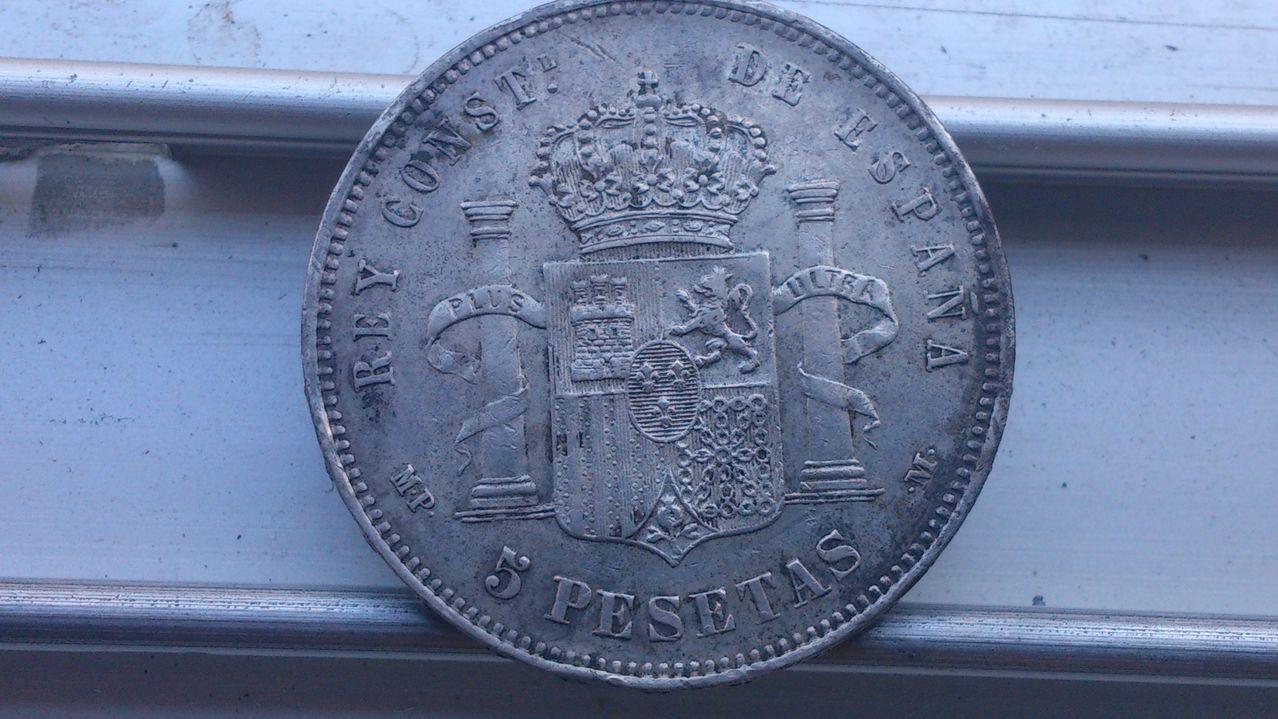 5 pesetas  1888. (*18*98) - MP-M. Alfonso XIII. Rev