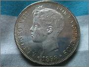 5 pesetas 1898 DSCF2923