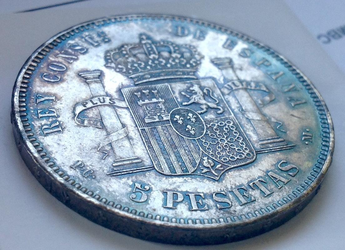 5 pesetas 1892. Alfonso XIII IMG_3345