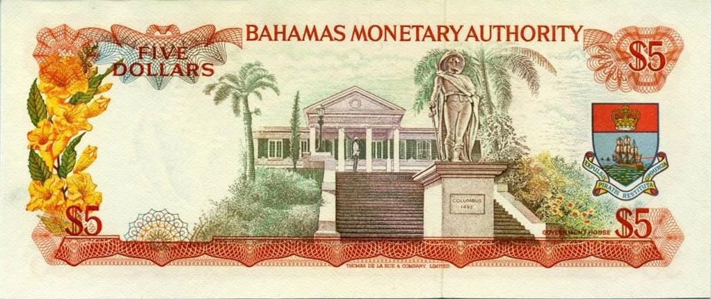 Bahamas 1 Dollar 1992 Bah5