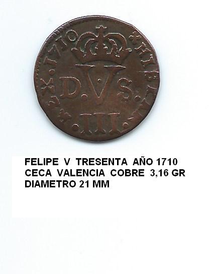 tresenta de Felipe V año 1710 Image