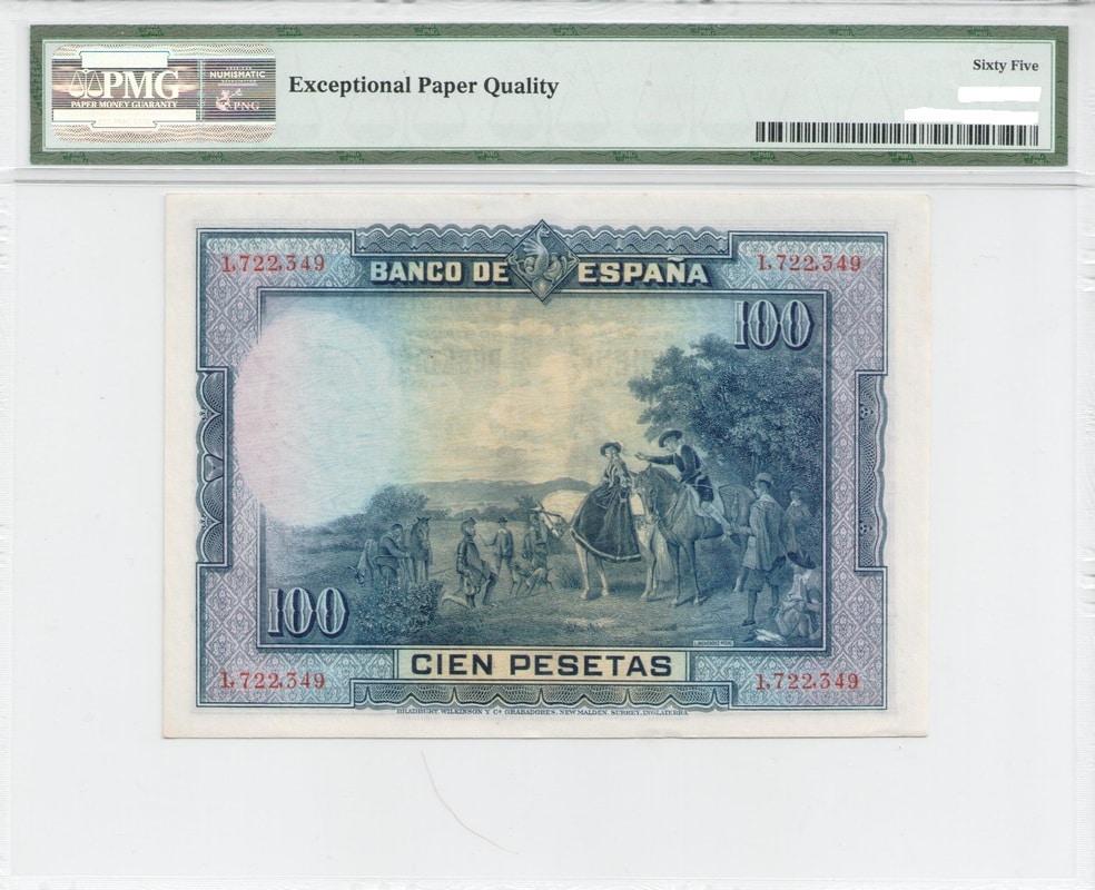 Colección de billetes españoles, sin serie o serie A de Sefcor - Página 3 100_del_28_reverso