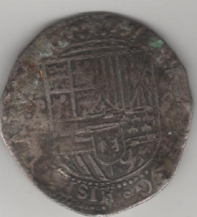 Plata de Felipe II para identificar. Moneda_1