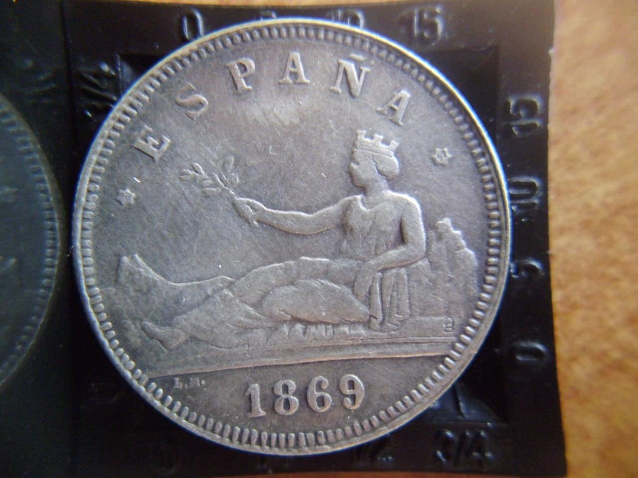 2 pesetas 1869 Gobierno Provisional P1110069