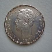 5 pesetas 1871*18-75 Amadeo I DE M Image