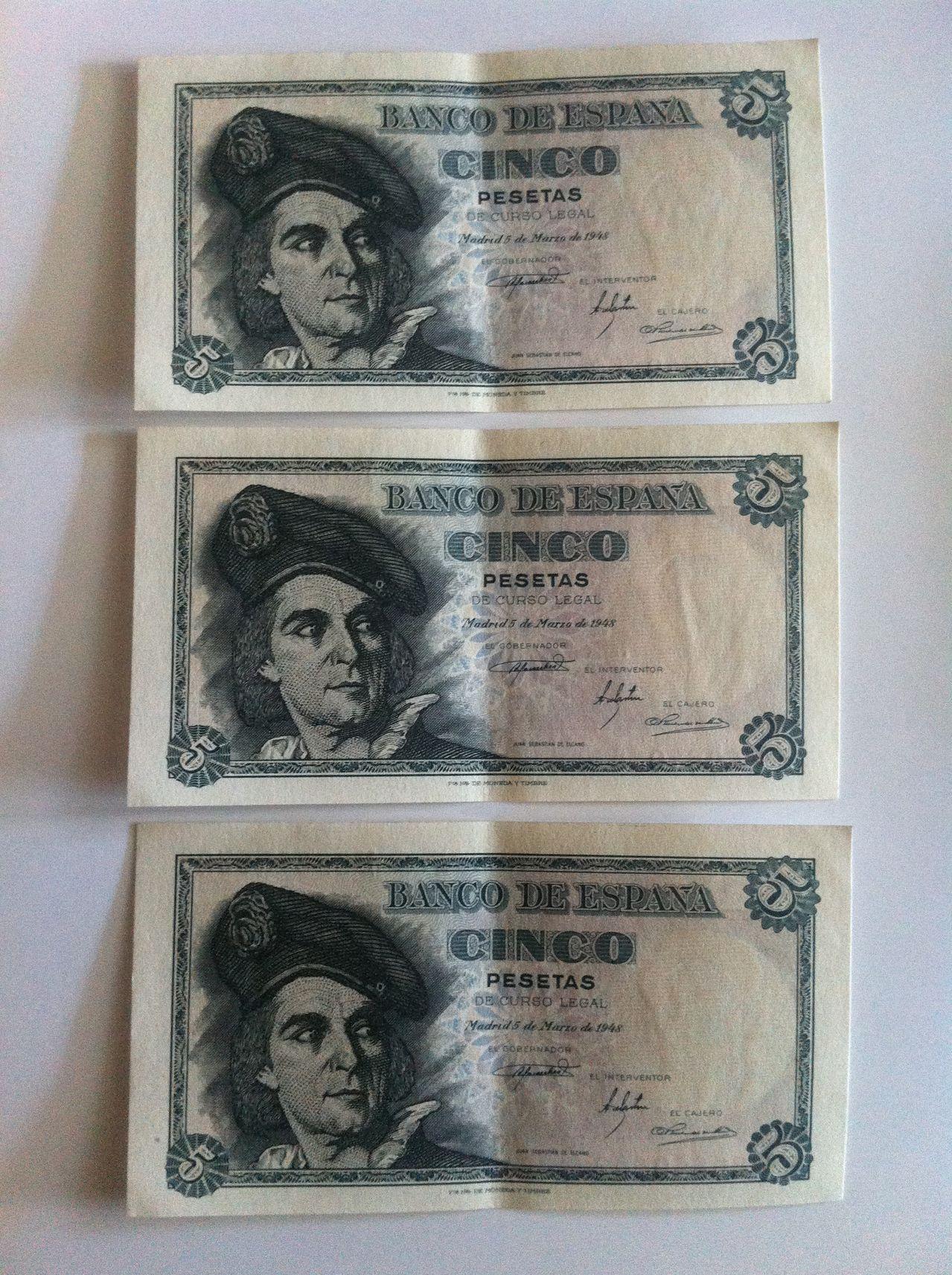 Ayuda valoracion cinco pesetas 1948  IMG_4981