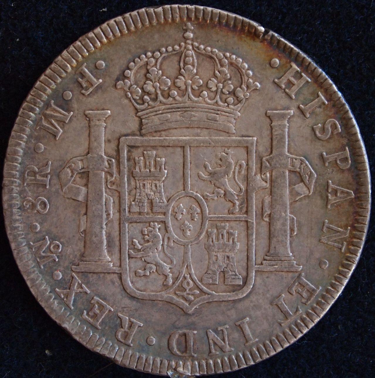 8 reales Carlos III Mexico 1772 2